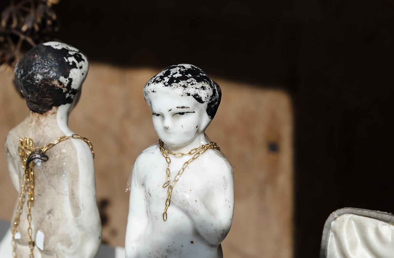 Porcelain Dolls, Natural Gemstones - Agas & Tamar