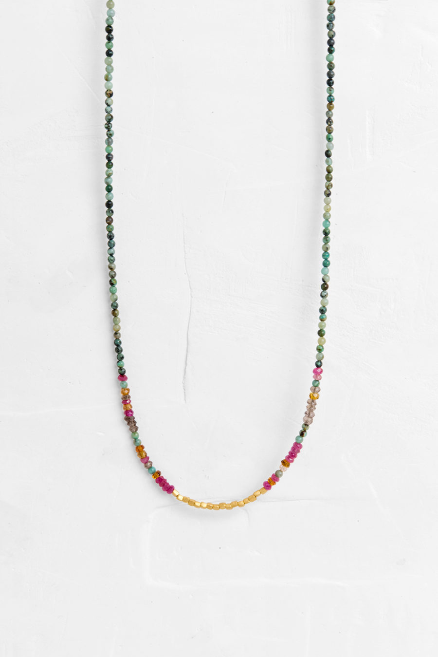pinkpowder sunburst com delicate charm pearl long necklace