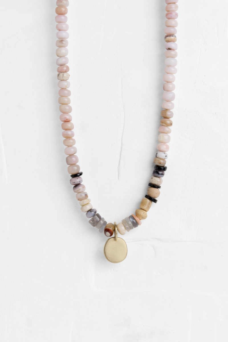 Large stone necklace with a gold disc pendant agas tamaragas tamar it involves the use of raw materials such as metals and gems which are all essentially one of a kind the final pieces might be slightly different than the aloadofball Images
